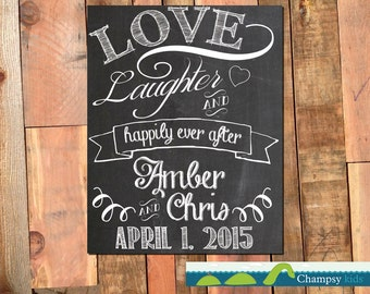 Printable chalkboard wedding file to be customized for you