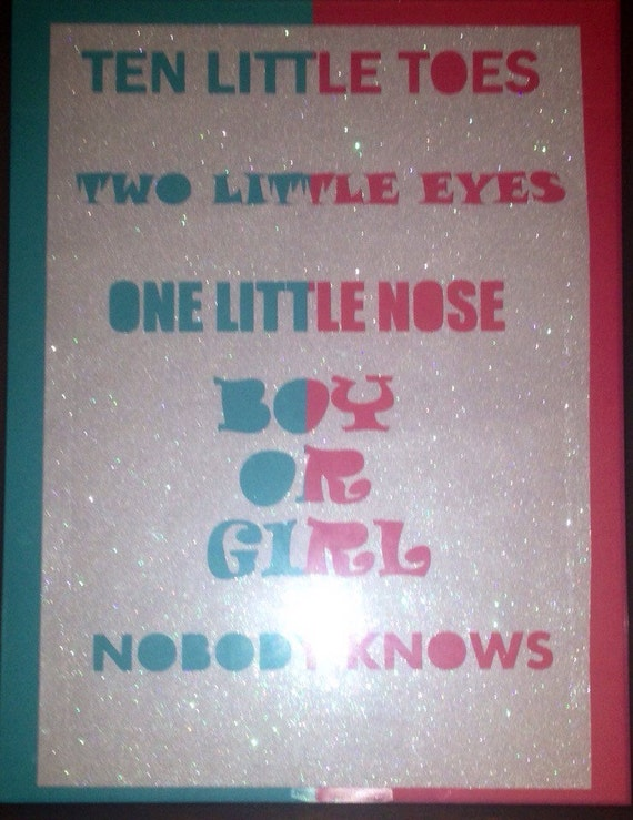 Blue Eyed Baby Girl Quotes: Items Similar To Baby Gender Reveal Party Pink & Blue