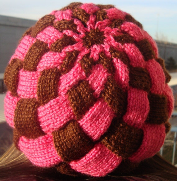 Stunning Woven Hat (slouchy beanie style)
