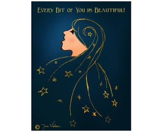 Every Bit of You is Beautiful Greeting Card