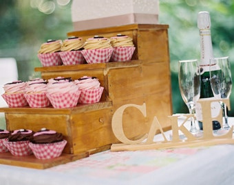 Wooden Step Cake & Cupcake Stand / Party / Engagement / Wedding
