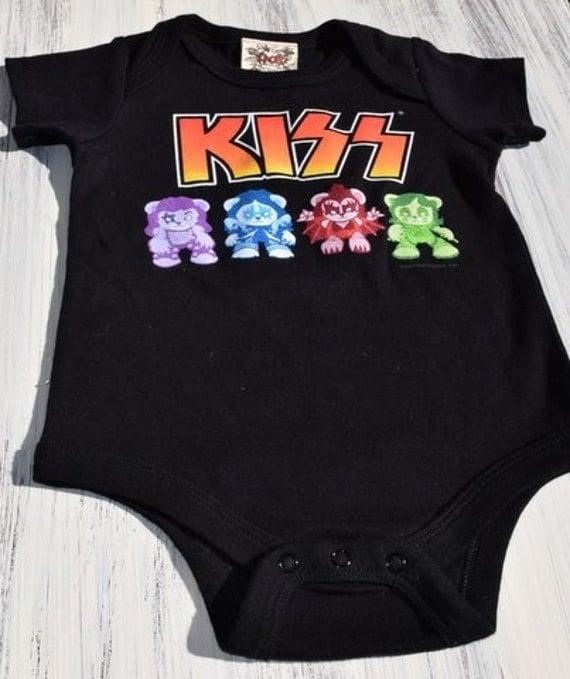 Kiss Baby Rock N Roll esie Cotton Size 18 Months 2t e of