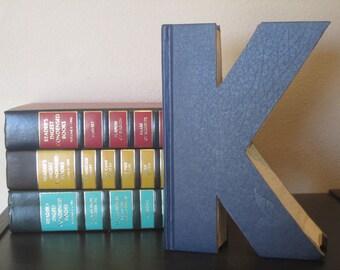 Letter K Monogram Reader's Digest Book Letter -  Wedding Decor and Gift Idea - Book Lover's Gift - Library Gift - Wedding Gift
