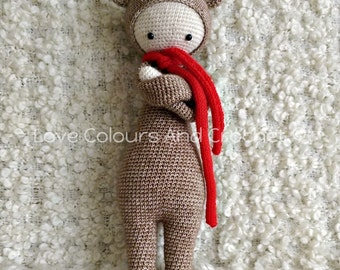 Lalylala Bina Bear Doll Amigurumi Stuffed Animal Toy Crochet