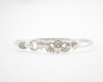 Cape Cod Claddagh Bracelet- Gold and Silver