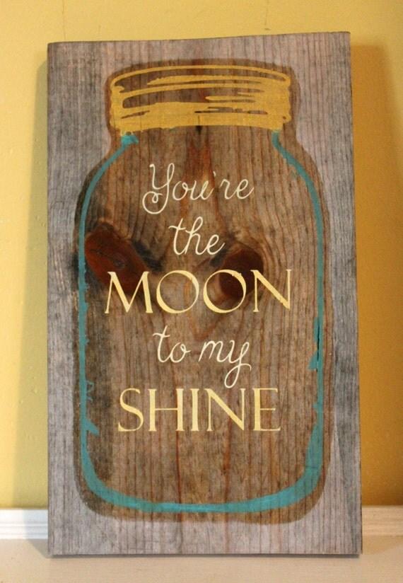 Redneck Wall Decor : Mason jar wood sign moonshine rustic