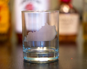 Kentucky Etched Bourbon Glass