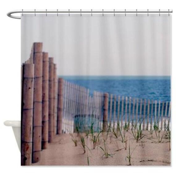rideau de douche rideau de douche oc an plage cl ture marron. Black Bedroom Furniture Sets. Home Design Ideas