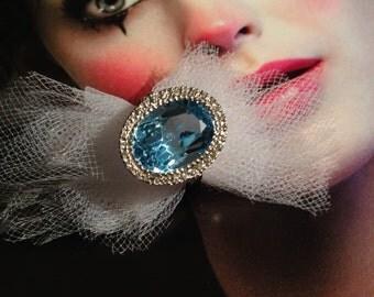 Blue hearts. Gold & Blue Topaz