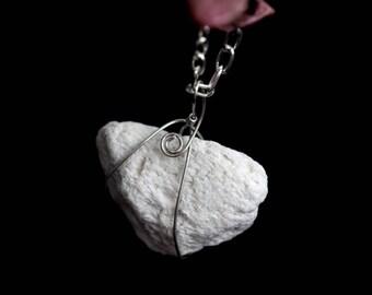 Gioielli di geologia geologo collana - collana di lava solida con accenti di pietre dure agata pizzo - pomice gioielli - regalo per geologo-