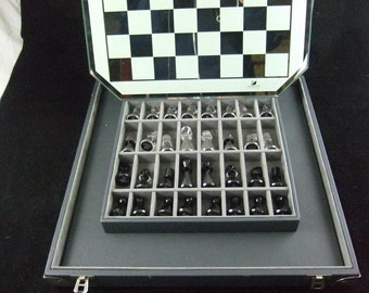 Brilliant Swarovski Silver Crystal Chess Set (SALE)