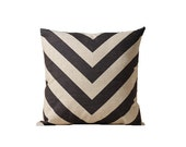 V-shaped throw pillow cover 18x18 Geometric decorative pillow covers Black cushion cover 22x22 Aztec cushion case Outdoor pillow case
