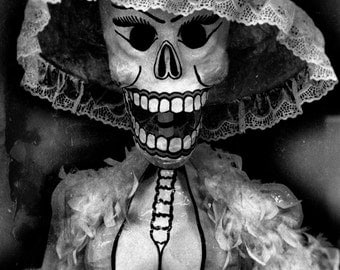 """A Series of 4 Black and White """"Day of the Dead"""" Inspired Photographs"""