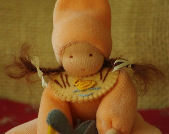 Waldorf inspired doll // Pocket doll //  Soft doll for the little babies