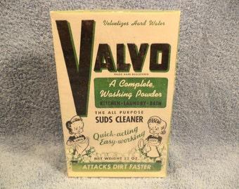 Valvo Laundry Soap Full Box Great Graphics