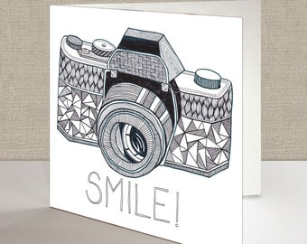 Smile! Square Greetings Card