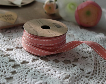 LIGHT PINK Stitched Grossgrain Ribbon Reel 3m