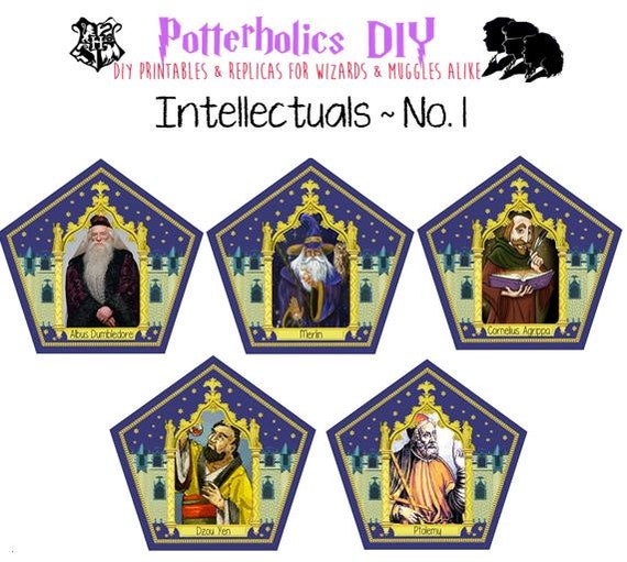 Vibrant image throughout chocolate frog cards printable