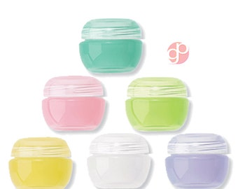 24  2ml Easter Egg Lip Balm Jars,  Cosmetics, Solid Perfume,  Lip Gloss, in Assorted Fruity  Fruit Colors Tiny Empty Cosmetic Containers