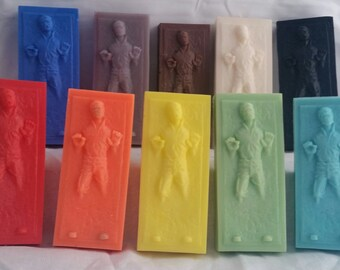 Colorful Handmade Natural Soap -- Star Wars Han Solo In Carbonite Soap