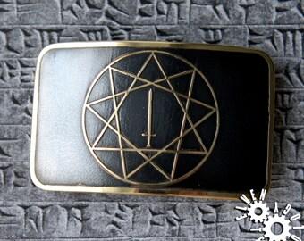 Inglia Star brass belt buckle