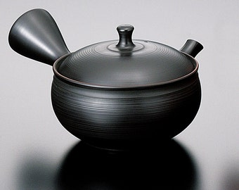 Tokoname Pottery : GYOKURYU - Japanese Kyusu tea pot 250cc Ceramic Mesh