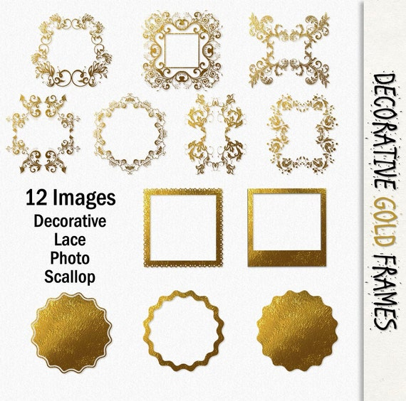 Gold Frames And Borders Png Gold Digital Frames 12 Borders