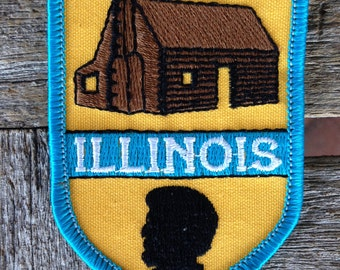 Illinois Vintage Souvenir Travel Patch from Embroidered Emblems