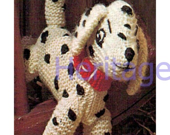 dalmation toy dk knitting pattern 99p