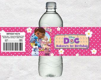 Doc Mcstuffins Water Bottle Labels Doc Mcstuffins Water labels