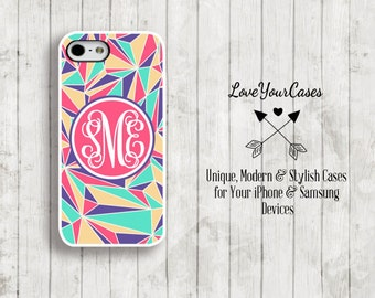 iPhone 6 Case, iPhone 6 Plus Case, iPhone 5 Case, iPhone 5c Case, Samsung Case, Monogrammed iPhone, Personalized iPhone Case, Geometric, 960