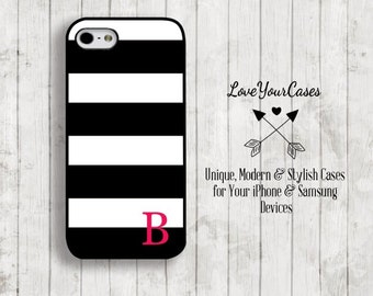 iPhone 6 Case, iPhone 6 Plus Case, iPhone 5 Case, iPhone 5c Case, Samsung Galaxy Case, Personalized iPhone, Black White Stripes iPhone, 324