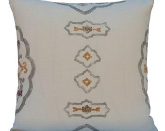 Off White Pillow, Throw Pillow Cover, Decorative Pillow Cover, Cushion Cover, Pillowcase, Accent Pillow, Toss Pillow, Linen Pillow, Pattern