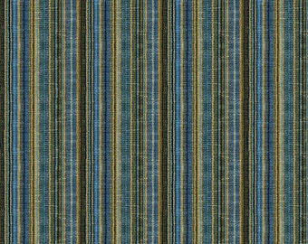 BRUNSCHWIG & FILS ITALIAN Velvet Stripes Fabric 10 Yards Sapphire Brown Multi