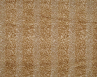 SCALAMANDRE CORBET ANIMAL Striped Loop Cut Velvet Fabric 10 Yards Cream Brown