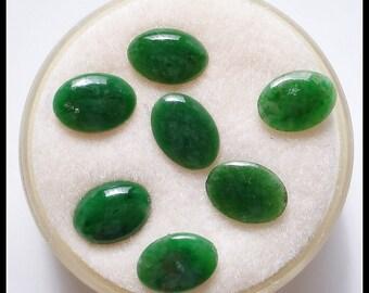 S A L E!!! *50% OFF Green Jadeite Jade 5x7mm Oval Cabochons