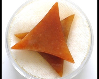 S A L E 50% Off!!! Red Jadeite Jade Triangles (21x21)