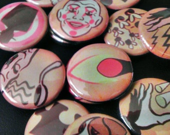 16 one inch Bioshock Plasmid button pins