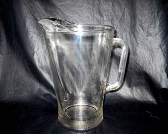 BIG! Old School, Vintage Heavy Clear Glass Beer Pitcher