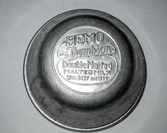 Vintage Hemo Thompson's Double Malted Milk with Beef & Iron Shaker Lid, 1940's,