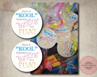 "Have a ""Kool"" Summer End of the School Year Tags- Instant Download"