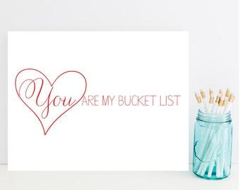 You are My Bucket List Card - Romantic Card