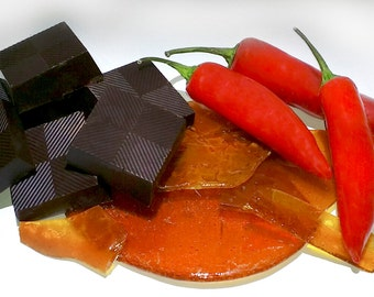 Chilli & Crushed Caramel Brittles made with fine Belgian 70% Dark Chocolate