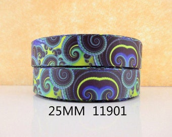1 inch Kaleidoscope PATTERN 11901 - Printed Grosgrain Ribbon- Printed Grosgrain Ribbon - Printed Grosgrain Ribbon for Hair Bow