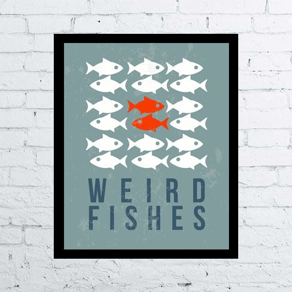 Radiohead Weird Fishes Poster Printable Wall By