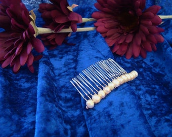 Freshwater Pearls on a Comb