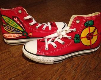 Custom Chicago Blackhawks shoes