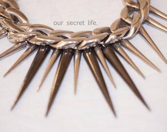 spike chain neckalce.