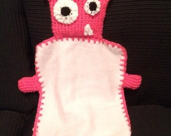 Pink monster blanket