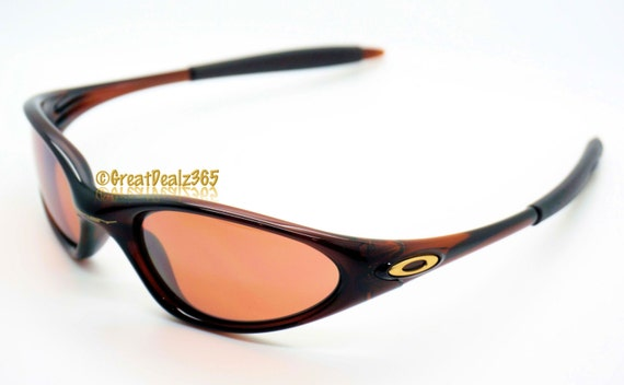oakley mens minute sunglasses  items similar to rare vintage oakley minute 1.0 2nd generation polished rootbeer frame with vr28 black iridium lenses on etsy